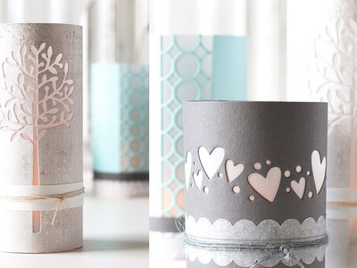 DIY Luminaries Using Card Stock and Craft Dies