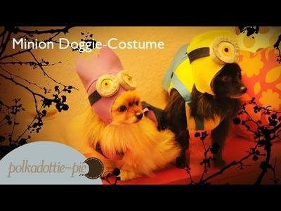 DIY Minion Costume for Doggies - Felt Craft - PolkadottiePie Tutorial