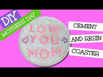DIY Mother's Day Concrete & Resin Coaster   Another Coaster Friday Craft Klatch