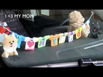 DIY Mother's Day Gift, I Love My Mom - PolkadottiePie Felt Craft Tutorial