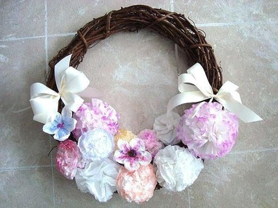 DIY PAPER FLOWERS, CARNATIONS FROM COFFEE FILTERS