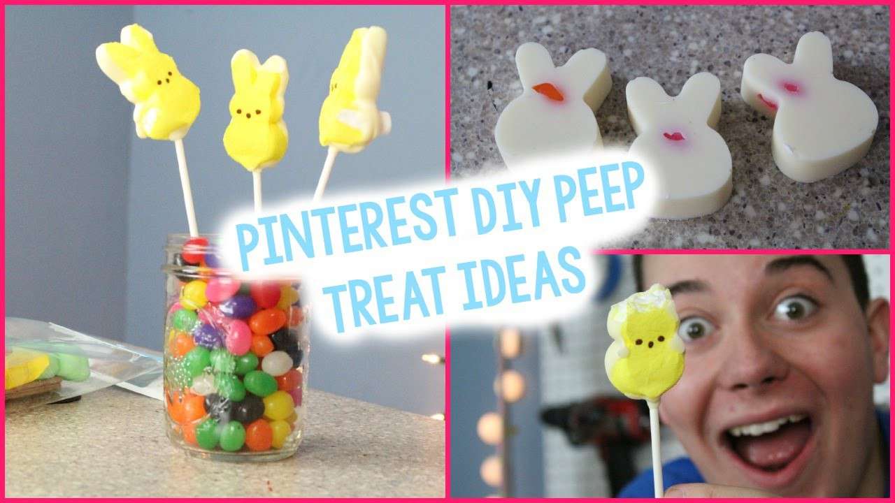 DIY Peep Inspired Treats | Pinterest Inspired | Easter Crafts