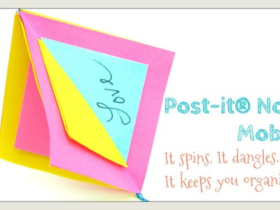 DIY Post-it® Note Crafts - Post-it® Note Mobile Ornament - Spinning Memo Display