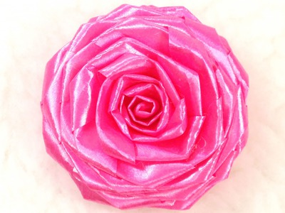 DIY Ribbon Rose, Tutorial, Floral Ribbon, How to make