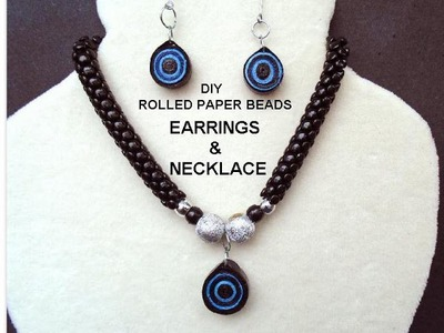 DIY - ROLLED PAPER BEADS, QUILLED PAPER, EARRINGS AND PENDANT, Jewelry making