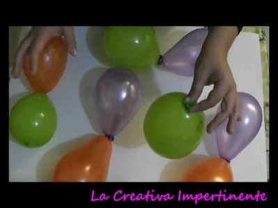 DIY - Tutorial Halloween - centrotavola in Art Balloon