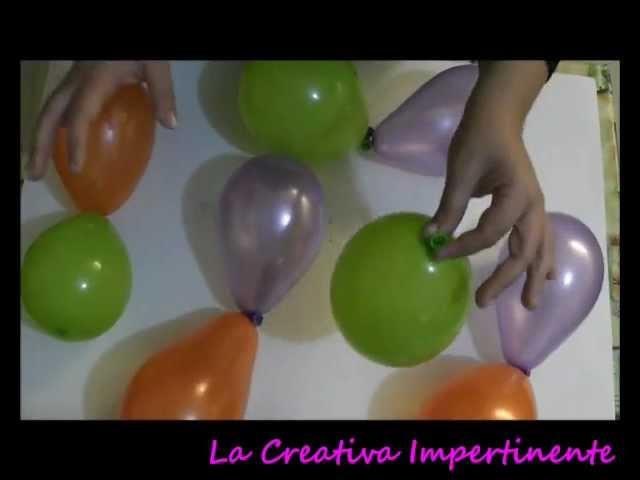 DIY - Tutorial Halloween - centrotavola in Art Balloon