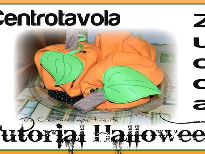 DIY: Tutorial Halloween -  Decorazione Zucca Facilissima (Pumpkin Decoration Craft)