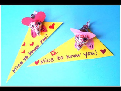 DIY Valentine's Day Craft: Cute Mouse Card
