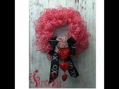 DIY Valentine Wreath Tutorial by Trendy Tree