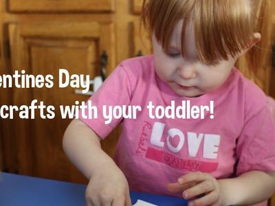 DIY Valentines Day Crafts - Toddler friendly!