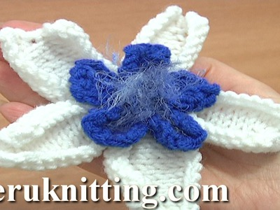 Double Layer Knitted Flower Pattern Tutorial 26 Knitting Flower Library