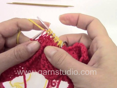 DROPS Knitting Tutorial: How to knit Easter chicken pants