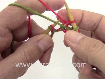 DROPS Knitting Tutorial: two color cast on for double knitting
