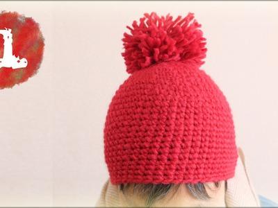 手編みニット帽子(1)編むポイント/ゲージをとりました diy beanie hat tutorial