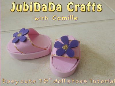 Easy DIY Shoes for 18inch Dolls Crafts Tutorial