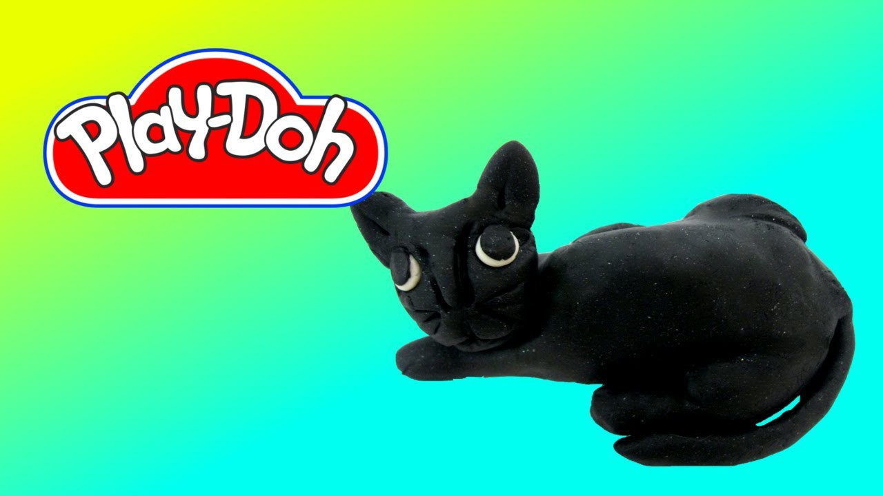 Easy to make a Play Doh Black Cat Play-Doh Craft N Toys