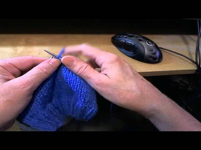English, American, or Throwing Style Knitting demonstration