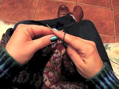 Fair Isle Knitting - Holding Both Yarns in Right Hand