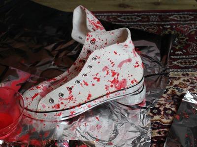 FASHION DIY: Splatter Shoes Tutorial Cool Designer Shoes