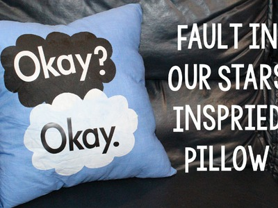 Fault in Our Stars Inspired DIY Pillow | Sizzix Teen Craft