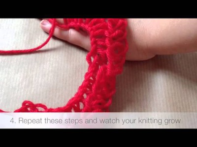 Finger Knitting Craft Tutorial