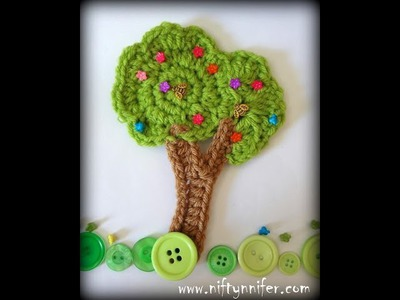 Free Tree Motif Crochet Pattern Tutorial 1 0f 2