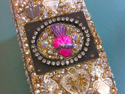 GLITTERED Decoden Cell Phone Case || Craft Tutorial