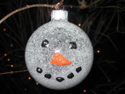 Glittered Snowman Ornament Craft Tutorial