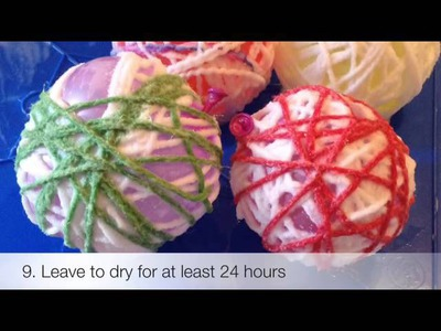 Glue String Balls Craft Tutorial