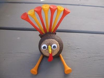Golf Ball Turkey Craft Tutorial