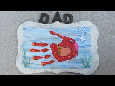 Hand Print Fish Plaque Craft Tutorial