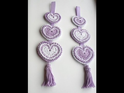 Hanging 'Hippy Hearts' Decoration - Crochet Tutorial