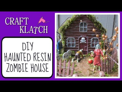 Haunted Zombie House Halloween Resin DIY Craft Klatch Halloween Series