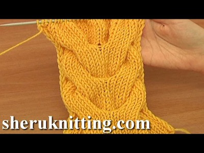 Horseshoe Cable Stitch Pattern Knitting Tutorial 15 A Double Cable Stitch