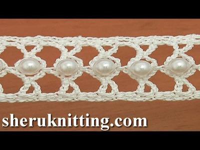 How to Crochet a Beaded Narrow Tape Tutorial 21