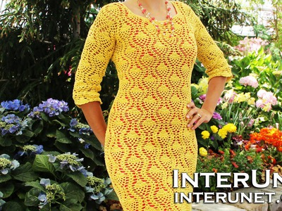 How to crochet a dress - pineapple stitch pattern. Part 2 of 2