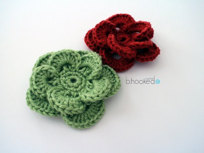 How to Crochet a Flower Left Handed: Wagon Wheel Flower
