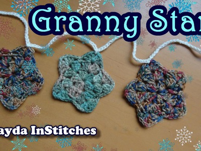 How To Crochet a Granny Star and Make a Garland!
