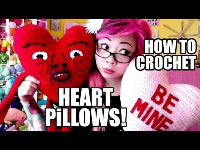 How to Crochet a Heart Pillow!