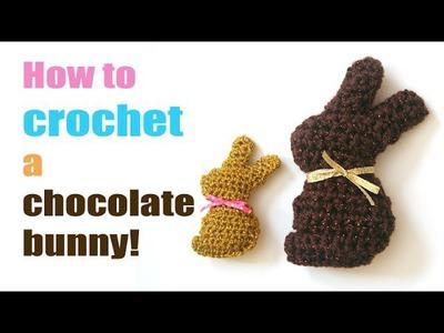 How to Crochet a Mini Chocolate Bunny!