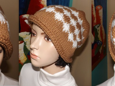 How To Crochet A Slouchy Beanie WithTunisian Stich