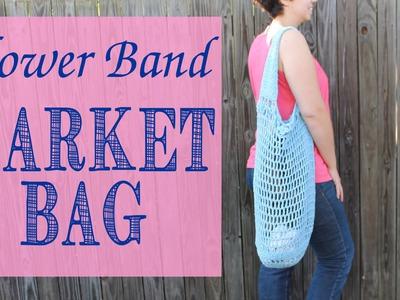 HOW TO: Crochet Flower Band Market Bag Tutorial