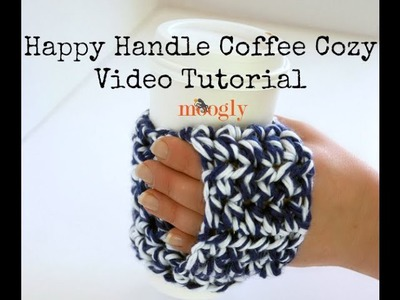 How to Crochet: Happy Handle Coffee Cozy