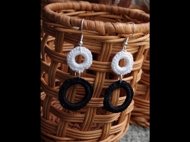 How to Crochet Modern Geometric Earrings Tutorial