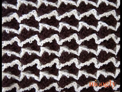 How to Crochet: Neptune's Arrow Stitch Pattern (Right Handed))
