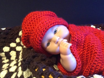 How to crochet quick 20 minute easy newborn hat
