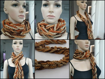 How To Crochet Scarf Tutorial Pattern #1( Easy Scarf.Chain Only)