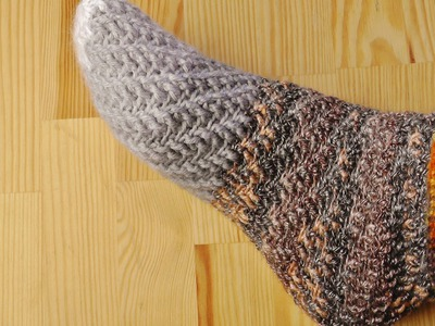 How to crochet swirl socks without heel for left handed