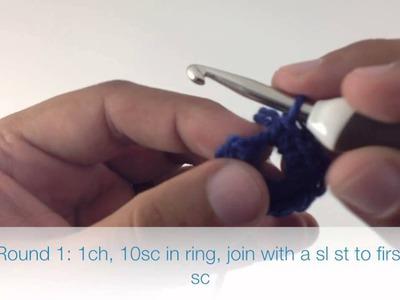 How to Crochet the Five Petal Flower Motif